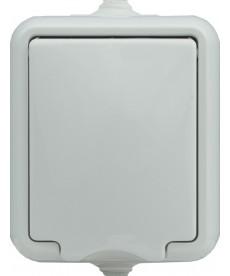 Gniazdo pojedyncze IP 44 klapka biała. KOS HYDRO 120432