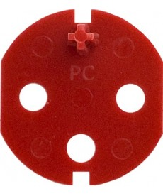 Klucz uprawniający do gniazd typu Data z taśmą samoprzylepną kolor czerwony KOS KOS 45 351044