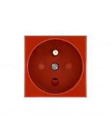 Moduł - gniazdo typu Data z blokadą torów prądowych kolor czerwony KOS KOS 45 3510143