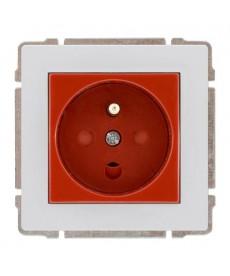 Gniazdo typu DATA czerwone z uziemieniem i kluczem uprawniającym bez ramki KOS KOS 66 660443