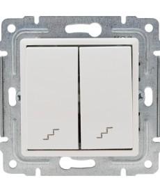 Łącznik podwójny schodowy z klawiszem bez ramki KOS VENA 510419