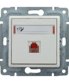 Gniazdo telefoniczne pojedyncze z etykietą bez ramki KOS VENA 510463