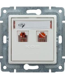 Gniazdo telefoniczne podwójne z etykietą bez ramki KOS VENA 510464
