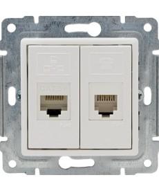 Gniazdo telefoniczno-komputerowe bez ramki KOS VENA 510469