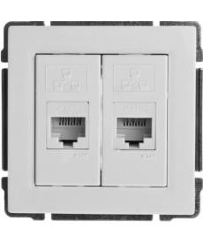 Gniazdo komputerowe podwójne 2xRJ45 bez ramki KOS KOS 66 660467