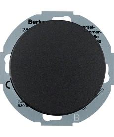 R.classic Rozszerzenie ściemniacza uniwersalnego z płytką czołową, czarny