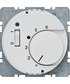 Regulator temperatury pomieszczenia z zestykiem zwiernym, elementem centralnym i