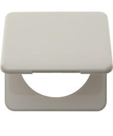 Ramka 1-krotna z pokrywą biały, połysk Integro Classic