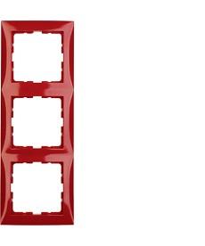 Ramka 3-krotna czerwony, połysk B.Kwadrat