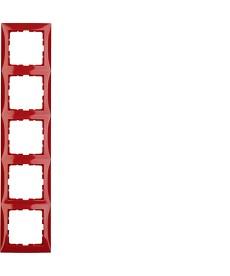 Ramka 5-krotna czerwony, połysk B.Kwadrat
