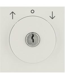 Płytka czołowa z zamkiem do łącznika żaluzjowego na klucz; kremowy, połysk; S.1