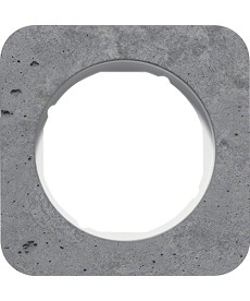 R.1 Ramka 1-krotna, beton/biały