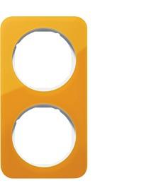 R.1 Ramka 2-krotna, akryl przezroczysty, pomarańczowy/biały