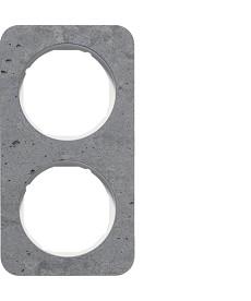 R.1 Ramka 2-krotna, beton/biały