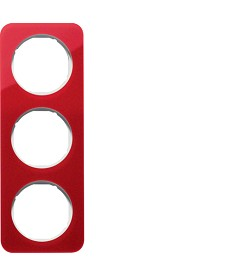 R.1 Ramka 3-krotna, akryl przezroczysty, czerwony/biały