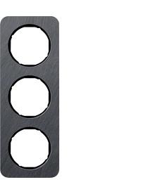 R.1 Ramka 3-krotna, łupek/czarny