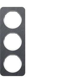 R.1 Ramka 3-krotna, łupek/biały