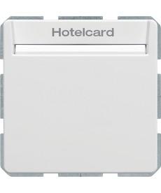 Q.x Łącznik przekaźnikow na kartę hotelową, biał , aksamit