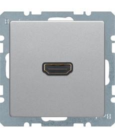 Q.x Gniazdo HDMI z prz łączem 90°, alu aksamit, lakierowan