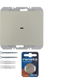K.5 KNX RF przycisk radiowy 1-krotny płaski quicklink, stal, lakier.