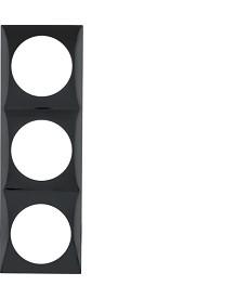 Ramka 3-krotna czarny, połysk Integro Flow