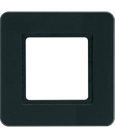 Q.7 Ramka 1-krotna do modułu podświetlenia LED, szkło, czarne HAGER 10116176