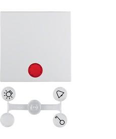 Klawisz x1 b1/b7glas podświetlany biały berker 16211909