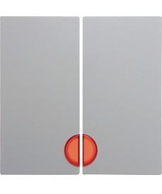 Klawisz x2 podświetlany b1/b3/b7 glas biały berker 16271909