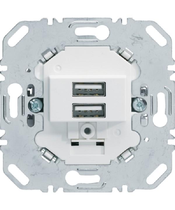 Gniazdo usb ładowania 3.0a 230v biały, mat berker.260209