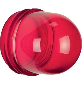 Klosz do sygnalizatora świetlnego E14, wysoki; czerwony przezroczysty; Dodatki