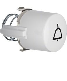 Przycisk do łącznika i sygnalizatora E10 z symbolem dzwonka; biały; Serie 1930/G