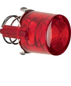 Przycisk do łącznika i sygnalizatora E10; czerwony przezroczysty; Serie 1930/Gla