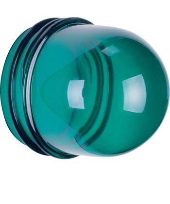 Klosz do sygnalizatora świetlnego E14, wysoki; zielony przezroczysty; Dodatki