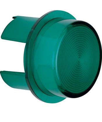 Klosz do sygnalizatora świetlnego E10; zielony przezroczysty; Dodatki