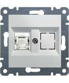 lumina 2 Gniazdo 1xRJ45 kat.5e FTP, białe