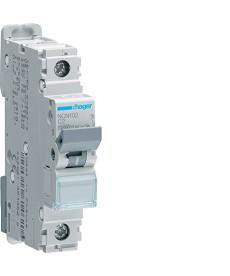 Wyłącznik nadprądowy mcb icn10000a / icu15ka 1p c 2a hager.ncn102