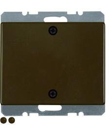 Zaślepka z elementem centralnym i mocowaniem na śruby; brązowy; Arsys