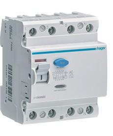 RCCB Wyłącznik różnicowoprądowy 4P 80A/300mA Typ AC