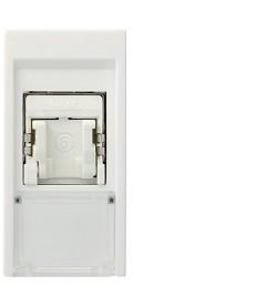Gniazdo informatyczne rj45 cat.6 ftp systo 1 moduł biały hager ws222