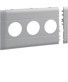Maskownica 3-krotna ABS bezhalogenow 120mm jasnoszar