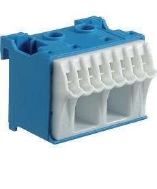 Blok samozacisków quickconnect, neutralny niebieski, hager kn10n