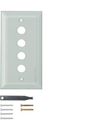 Szklana płytka wierzchnia 4-krotna; przezroczysty; System TS