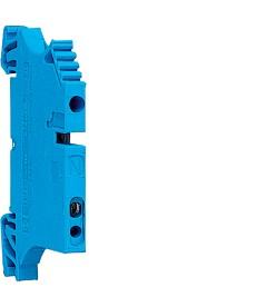 Zacisk szeregowy neutralny 4mm2 dla szyn zbiorczych 10x3mm