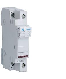 Modułowa podstawa bezpiecznikowa 1P+N z lamp. kontrolną 230 VAC wkł.bezp.c l.L38