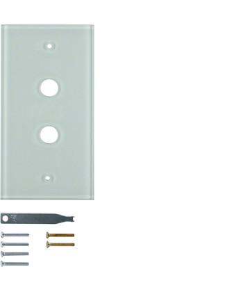 Szklana płytka wierzchnia 2-krotna; przezroczysty; System TS
