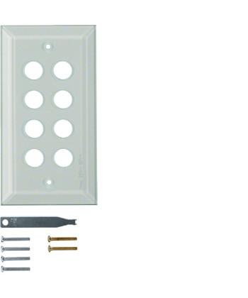 Szklana płytka wierzchnia 8-krotna; przezroczysty; System TS