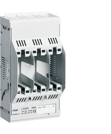 Podstawa bezpiecznikowa,NH00,3x160A montaż na płycie
