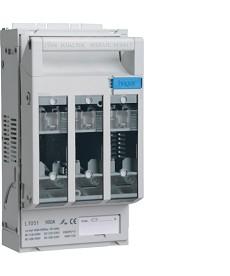 Rozłącznik bezpiecznikowy NH00 160 A, płyta/szyny TS35, z.kl.95 mm2/odp.3x16 mm2