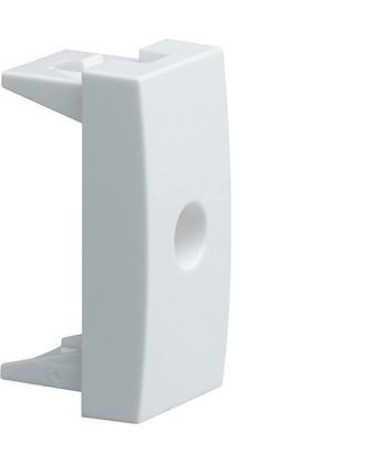 Zaślepka z wyjściem przewodu fi 8mm; Systo; 1 moduł; biały