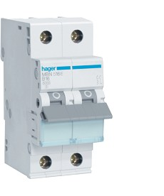 Wyłącznik nadprądowy 1p+n/2x16a b 6ka hager mb516a (mbn516e)